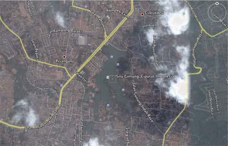peta Situ Gintung