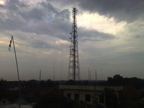 Kota Rangkasbitung terlihat dari gedung sekolah