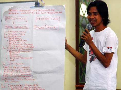 Masing-masing perwakilan kelompok diskusi mempresentasikan hasil diskusinya