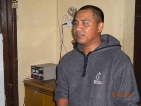 Bang Jhon, salah satu anggota Satpol PP yang menangkap saya