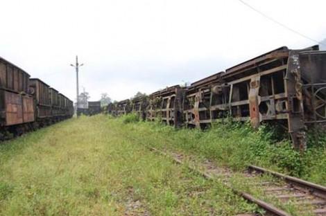 Gerbong-gerbong kereta tanpa roda