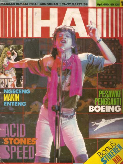 ACid Speed Band dalam Majalah HAI edisi 21-27 Maret 1989 th xiii-no.12