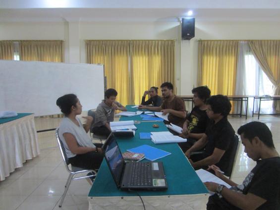 Pertemuan hari pertama kegiatan pelatihan program akumassa bernas.