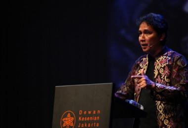 Hilmar Farid menyampaikan Pidato Kebudayaan (Dok. Dewan Kesenian Jakarta)