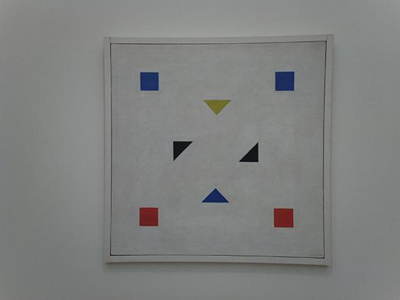 Composition (1918-1920) karya Bart van Der Leck.