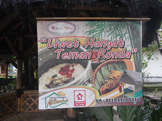 Papan promosi usaha Kampung Kuliner Dusun Wates.