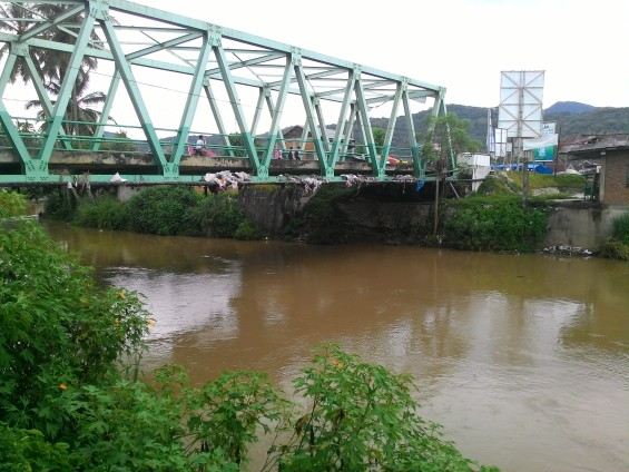 Jembatan terakhir Batang Lembang di Sumani.