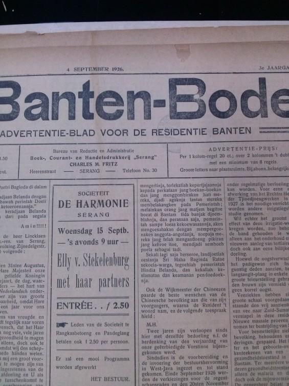 Halaman depan Koran Banten-Bode.