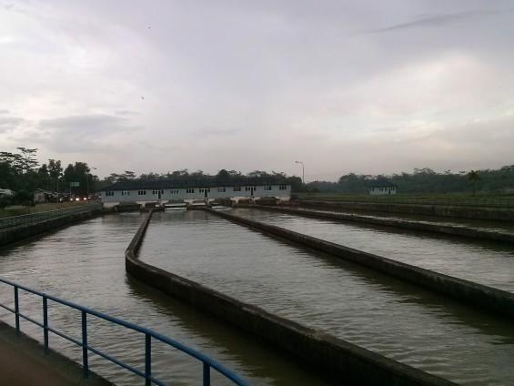 Jalur distribusi air Sungai Ciujung, berakhir di Kragilan, Serang.