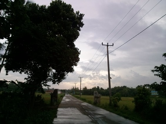 Perbatasan wilayah administrasi Lebak dan Serang di Daerah Pamarayan