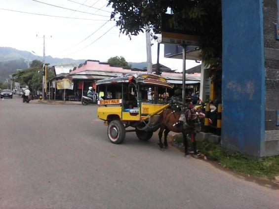 Cidomo parkir di perempatan Pemenang.