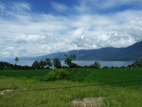 Danau Singkarak dari Desa Tanjung Barulak, Batipuh.