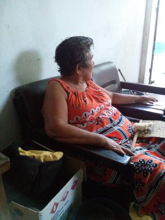 Ibu Farida di rumahnya.