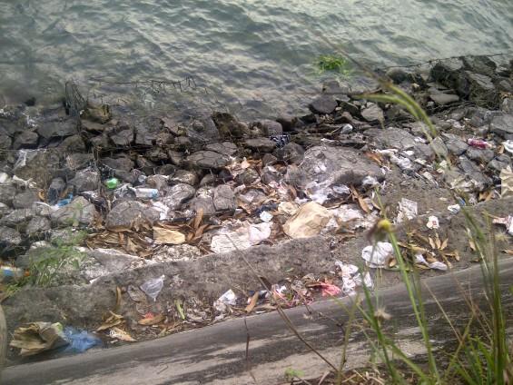 Sampah wisatawan Danau Singkarak.