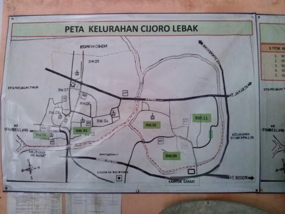 Peta Kelurahan Cijoro Lebak