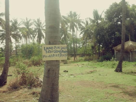 Salah satu tanah yang dijual di Gili Meno